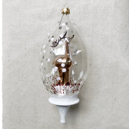 Reindeer Dome Ornament