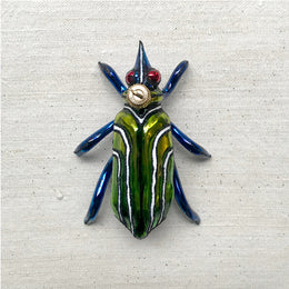 Green & Blue Bug Ornament