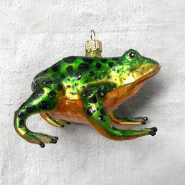Orange & Green Spotted Frog Ornament
