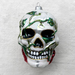 Skull with Ivy Ornament