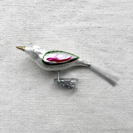 Pearl White Bird Clip-On Ornament