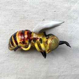 Yellow & Brown Bee Ornament