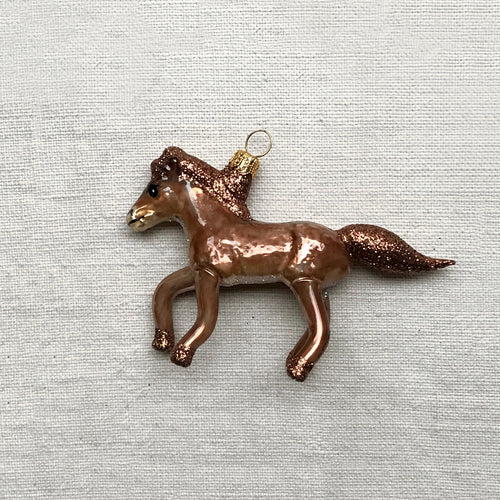 Brown Pony Ornament
