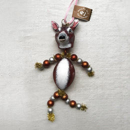 Nathalie Lété Beaded Deer Fawn Ornament