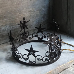 Antique Bronze Low Metal Crown