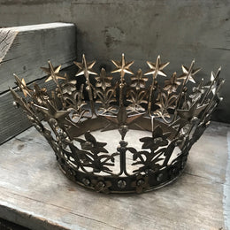 Large Antique Silver Crown