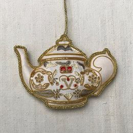 White Satin Royal Teapot