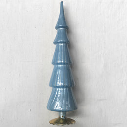 "17"" Standing Glass Tree in Dark Blue"