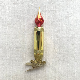 Gold Candle Clip-On Ornament
