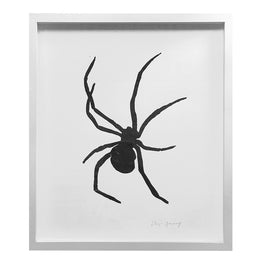 """Spider"" Lino-cut in Custom Frame"