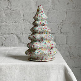 Ino Schaller White Beaded Tree