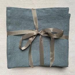 "Libeco ""Skye"" Linen Napkin Set in Steel Blue"