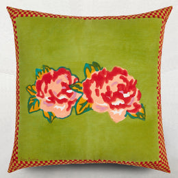 Lisa Corti Double Peonia Acid Green Euro Sham