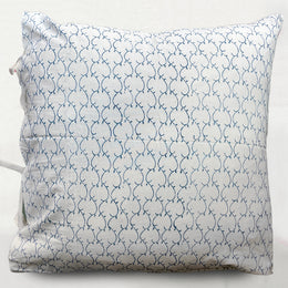 Latice Euro Pillow in Indigo
