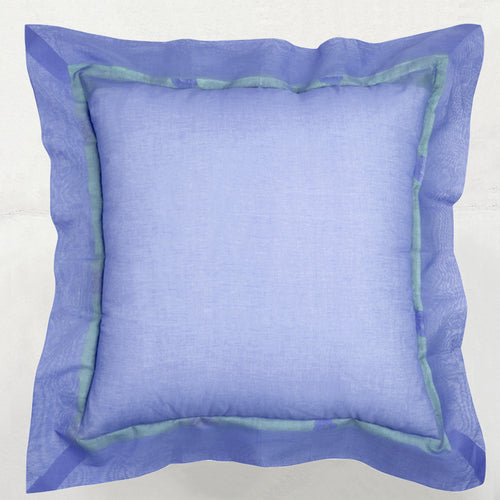 Red with Lilac Flange Pillow