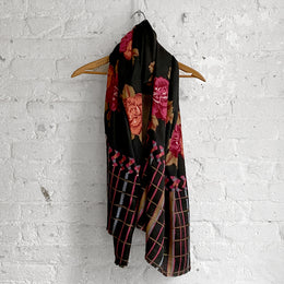 Lisa Corti Wool Shawl in Brown