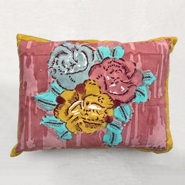 Small Old Pink Paradise Garden Pillow