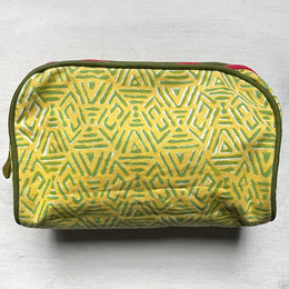 Large Lisa Corti Goret Zipper Pouch in Yellow