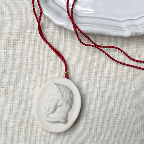 Emperor Pendant Necklace in White
