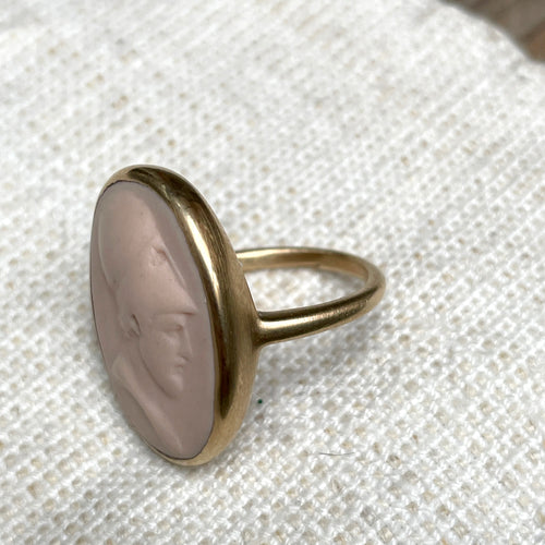 Gold Soldier Ring in Blush