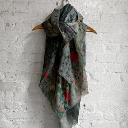 Martyn Thompson Linen Dropcloth Scarf in Red