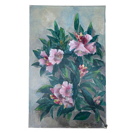 Mid 20th Century Dutch Pink Flower Painting