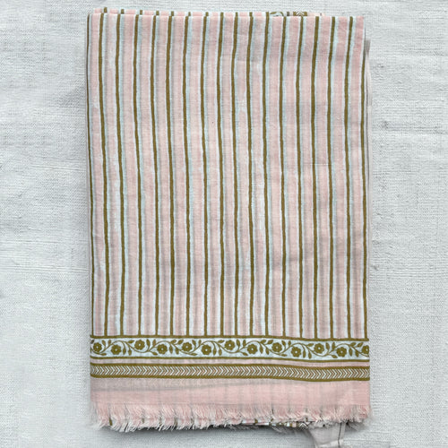339 Cotton Scarf in France Rose