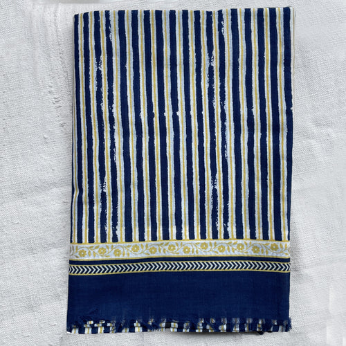 329 Cotton Scarf in Ink Blue