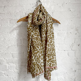 346 Cotton Scarf in Fauve