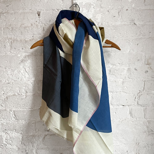 342 Cotton Scarf in Japan Blue