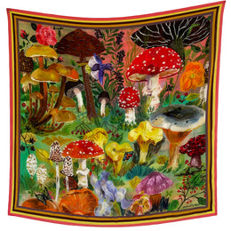 """Mushrooms"" Silk Scarf"
