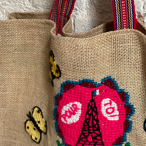 Nathalie Lete Embroidered Weekend Bag
