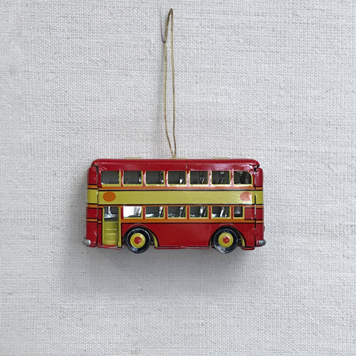 Nostalgic Toy Double Decker Bus Pendant Ornament