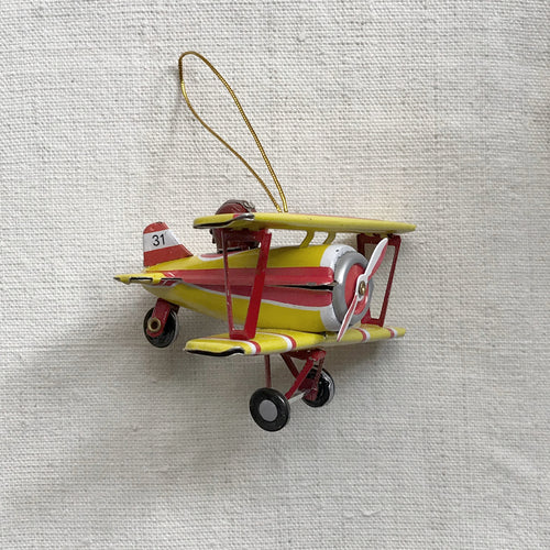 Nostalgic Toy Airplane Pendant Ornament