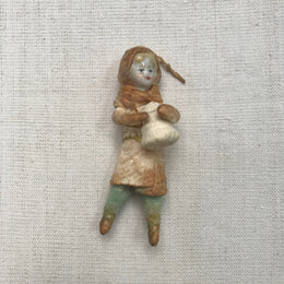 Nostalgic Cotton Boy with Bell Ornament
