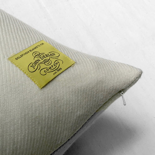 "John Derian for Goldfinch ""Variegated Tulips"" Wool Pillow"