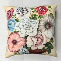 "John Derian for Goldfinch ""Petunias"" Wool Pillow"