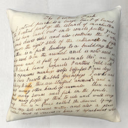 "John Derian for Goldfinch ""Central Park Essay"" Wool Pillow"