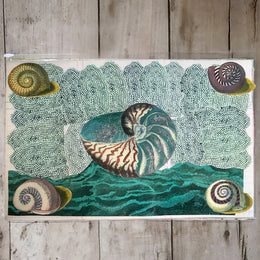 One of a Kind Collaged Mat - Sea Shells