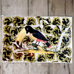 One of a Kind Collaged Mat - Toucan