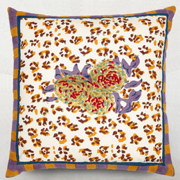 Lisa Corti Leopard Stripes Rust Euro Sham