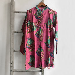 Short Floral Kurta in Pink