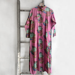 Long Floral Kurta in Pink