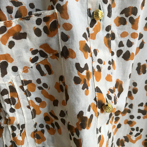 Short Animal Print Kurta