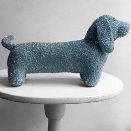 Luxus Silk Velvet Dachshund in Heavenly Blue