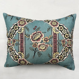 Small Guirlandes de Fleurs Pillow (No. 1A) with Linen Backing