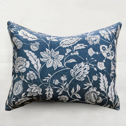 Small Indienne Pillow (No. 30B) with Linen Backing