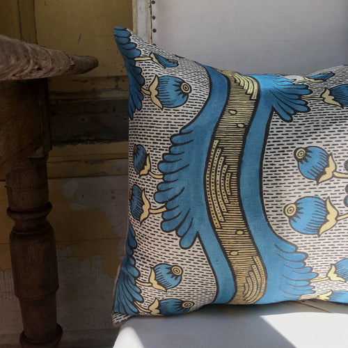 Small Grenades Pillow (No. 2A) with Linen Backing