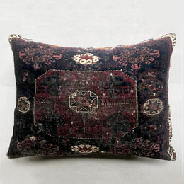 Vintage Baluch Prayer Rug Pillow