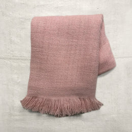 Noble Fibre Cashmere Shawl in Champagne Rose